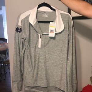 Under Armor Pull Over -ND- quarter zip.